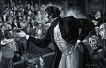 Benjamin Disraeli during his maiden speech to Parliament Poster Art Print by English School