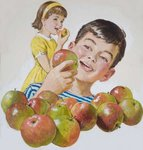 Boy and Girl with Apples