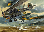 Aircraft under Fire Poster Art Print by Wilf Hardy