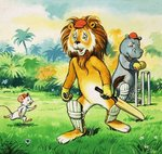 Leo the Friendly Lion Poster Art Print by English School