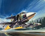 Unidentified jet fighter Poster Art Print by Wilf Hardy