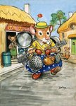 Town Mouse and Country Mouse Poster Art Print by Philip Mendoza