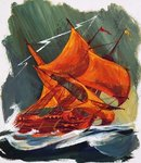 The Flying Dutchman Poster Art Print by English School