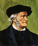 Portrait of Richard Wagner, composer of The Flying Dutchman
