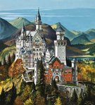 Castle Neuschwanstein Poster Art Print by English School