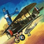Freedom of the Skies: Yankee Super Ace. Edward Rickenbacker Poster Art Print by English School