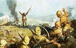 Boer surrendering Poster Art Print by Richard Caton Woodville