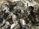 Fine Art Print of Revolt of the slave in Southern USA by Clive Uptton