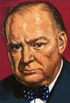 Fine Art Print of Winston Churchill by Clive Uptton