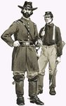 A US Cavalry officer and trooper