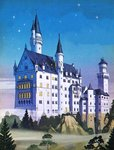 Neuschwanstein -- A Fairy-Tale Castle Built by a 'Madman' Poster Art Print by English School