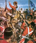 Fine Art Print of Storming of the Eureka Stockade by Clive Uptton