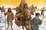 Ivan the Great in a sleigh Poster Art Print by French School