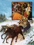 Fine Art Print of Edward Chancellor in a sleigh on the way to Moscow by Clive Uptton