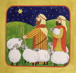 Fine Art Print of The Shepherds by Linda Benton