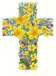Floral Cross I, 1998 Poster Art Print by William Henry Hunt