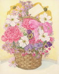 Basket of Flowers, 1995 Poster Art Print by Albert Williams