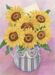 Sunflowers, 1998 Poster Art Print by Joan Thewsey