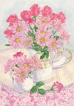 Roses and Chrysanthemums, 1996 Poster Art Print by Joan Thewsey