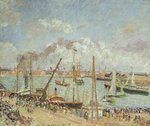 The Port of Le Havre, Afternoon, Sun, 1903 Poster Art Print by Camille Pissarro