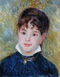 Head of a Young Woman Poster Art Print by Edouard Manet