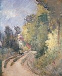 Road Turning under Trees, c.1873-75 Poster Art Print by Paul Cezanne