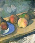 The Blue Plate, 1879-82 Poster Art Print by Paul Cezanne
