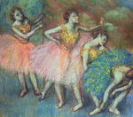 Four Dancers, 1903 Poster Art Print by Edgar Degas