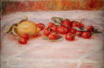 Still Life with Strawberries and Lemon, c.1895 Poster Art Print by Pierre-Auguste Renoir