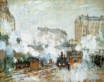 Exterior of the Gare Saint-Lazare, Arrival of a Train, 1877 Poster Art Print by Claude Monet