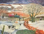 Fine Art Print of Winter Woolies by Lisa Graa Jensen