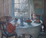 The Breakfast Table, 2001 Poster Art Print by Janet and Anne Johnstone