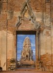 Ruins of the Viharn and F prang at Wat Ratchaburana Poster Art Print by Anonymous