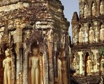 Two Chedi of Wat Chama Thewi, Lamphun, Davaravati School Poster Art Print by Anonymous