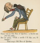 """There was an Old Man of Quebec- a beetle ran over his neck"", from 'A Book of Nonsense', published by Frederick Warne and Co., London, c.1875 Poster Art Print by Edward Lear"