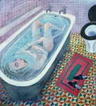 Dreaming in the Bath, 1991 Poster Art Print by Mary Stuart