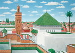 Rooftops, Marrakech, 1998 Poster Art Print by A. Margaretta Burr