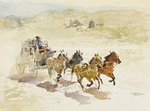 Pursuit Poster Art Print by Frederic Remington