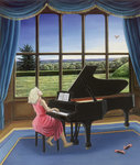 Playing Mozart Poster Art Print by Ruth Addinall