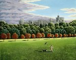 Streaking at Windsor Castle, 1988 Poster Art Print by Liz Wright