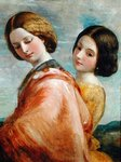 Two Young Women Walking Poster Art Print by Thomas Gainsborough