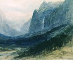 Yosemite Valley, California Poster Art Print by Albert Bierstadt