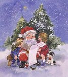 Father Christmas's List Poster Art Print by Linda Benton