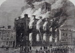 The burning of the Surrey Theatre, Sheffield, 1865 Poster Art Print by Gustave Dore