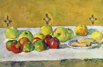 Apples and Biscuits, c.1877 Poster Art Print by Paul Cezanne