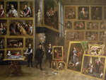The Picture Gallery of Archduke Leopold Wilhelm Poster Art Print by Giovanni Paolo Pannini or Panini
