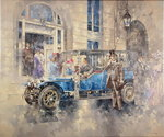 Outside the Ritz Poster Art Print by Peter Miller