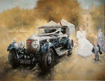 Bentley and Bride Poster Art Print by Peter Miller