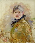 Fine Art Print of Self Portrait, 1885 by Berthe Morisot