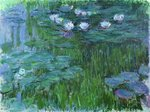 Fine Art Print of Waterlilies, 1914-17 by Claude Monet